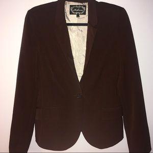 Vintage Brown Long Sleeve Blazer
